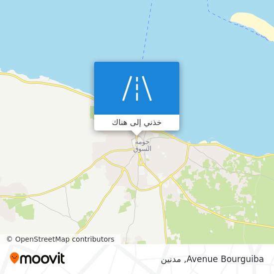 خريطة Avenue Bourguiba