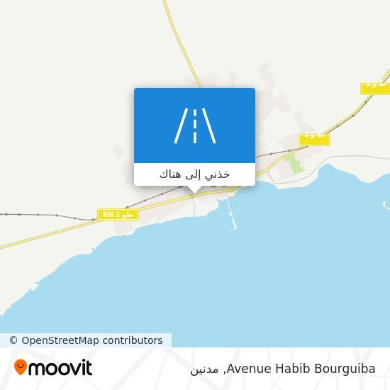 خريطة Avenue Habib Bourguiba