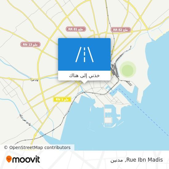 خريطة Rue Ibn Madis