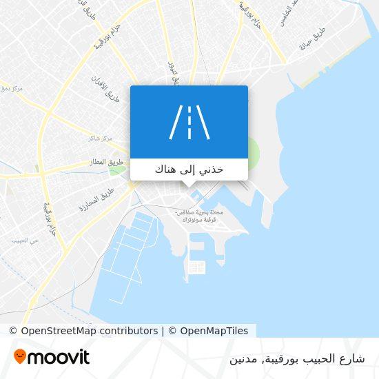 خريطة شارع الحبيب بورقيبة