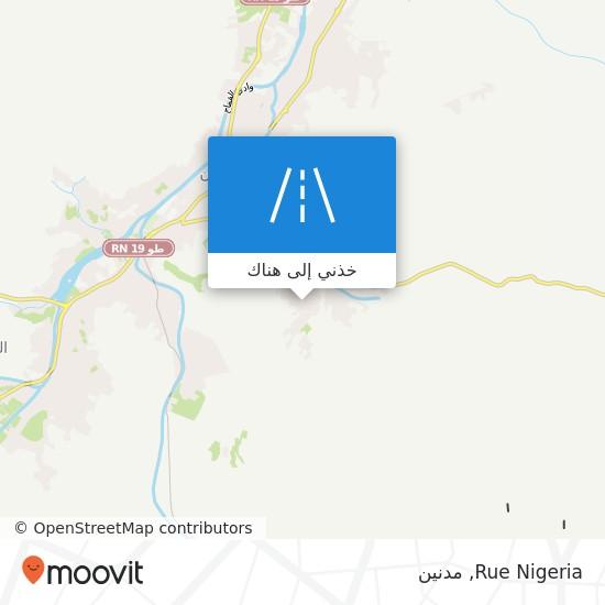 خريطة Rue Nigeria