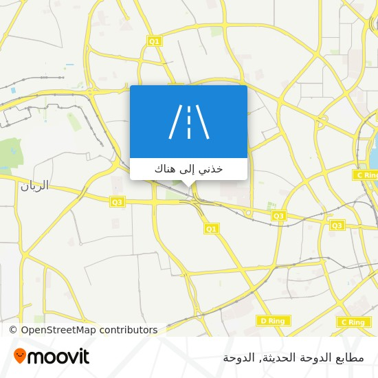 خريطة مطابع الدوحة الحديثة