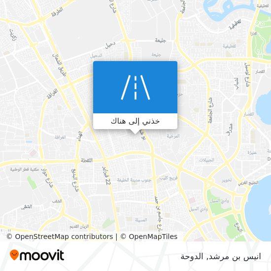 خريطة انيس بن مرشد