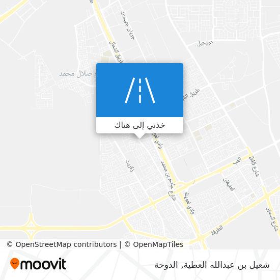 خريطة شعيل بن عبدالله العطية