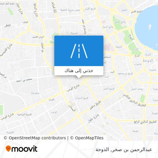 خريطة عبدالرحمن بن صخر