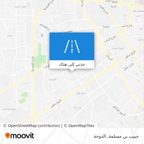 خريطة حبيب بن مسلمة
