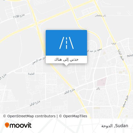 خريطة Sudan