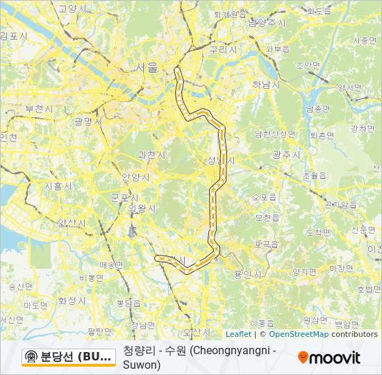 Jeongja Station Subway Map.분당선 Bundang Line Route Time Schedules Stops Maps 수원