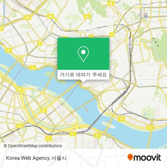 Korea Web Agency 지도