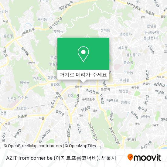 AZIT from corner be (아지트프롬코너비) 지도