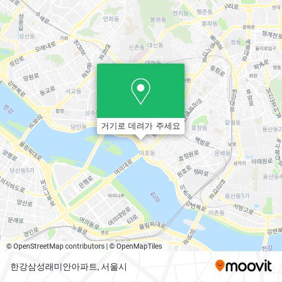 한강삼성래미안아파트 지도