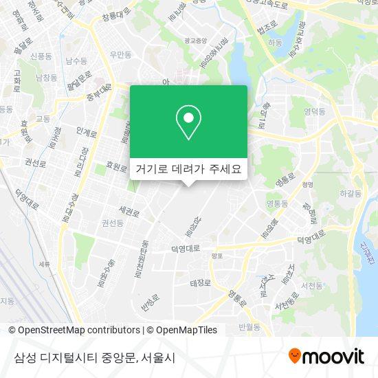 삼성 디지털시티 중앙문 지도