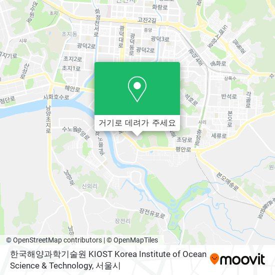 한국해양과학기술원 KIOST Korea Institute of Ocean Science &  Technology 지도