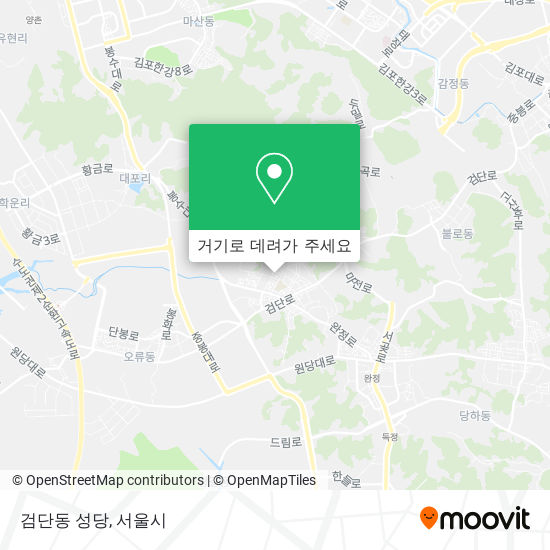 검단동 성당 지도