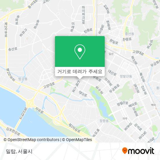 밀탑 지도
