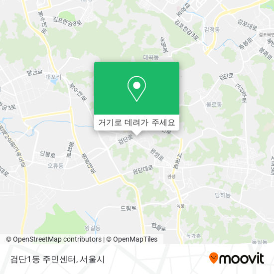 검단1동 주민센터 지도