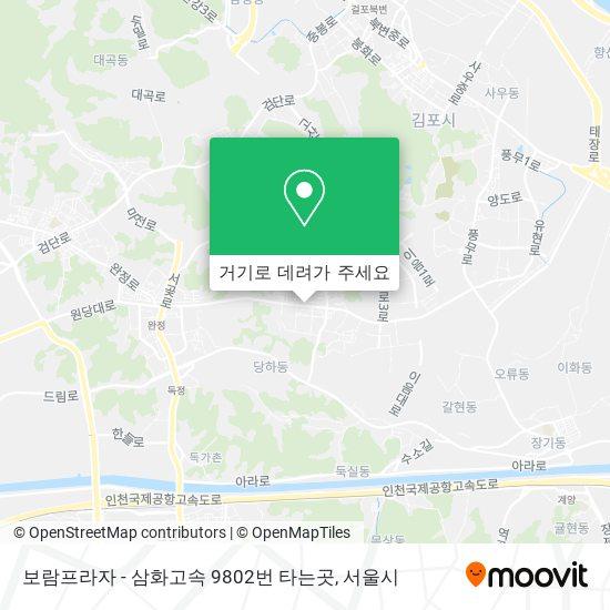 보람프라자 - 삼화고속 9802번 타는곳 지도