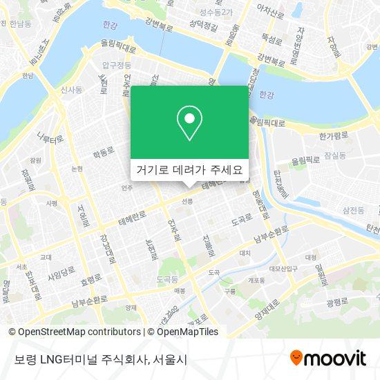 보령 LNG터미널 주식회사 지도