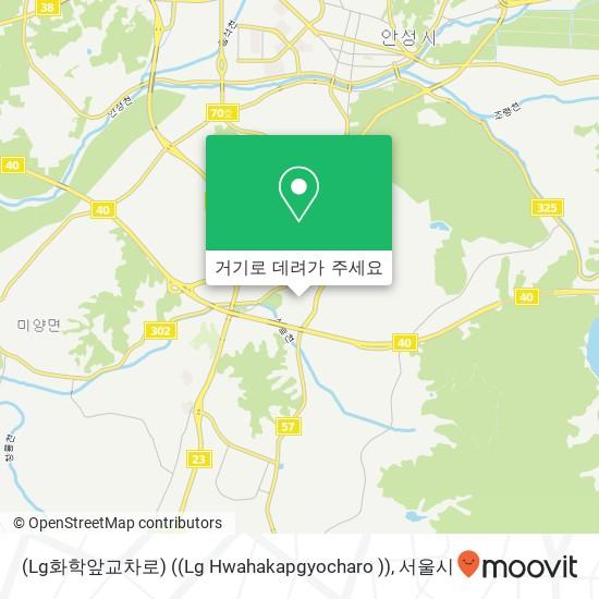 (Lg화학앞교차로) ((Lg Hwahakapgyocharo )) 지도