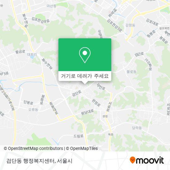 검단1동주민센터 (Geomdan 1 Dong Community Service Center) 지도