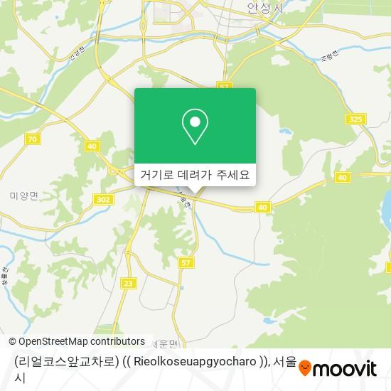 (리얼코스앞교차로) (( Rieolkoseuapgyocharo )) 지도