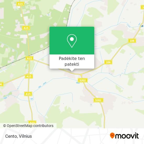Cento žemėlapis