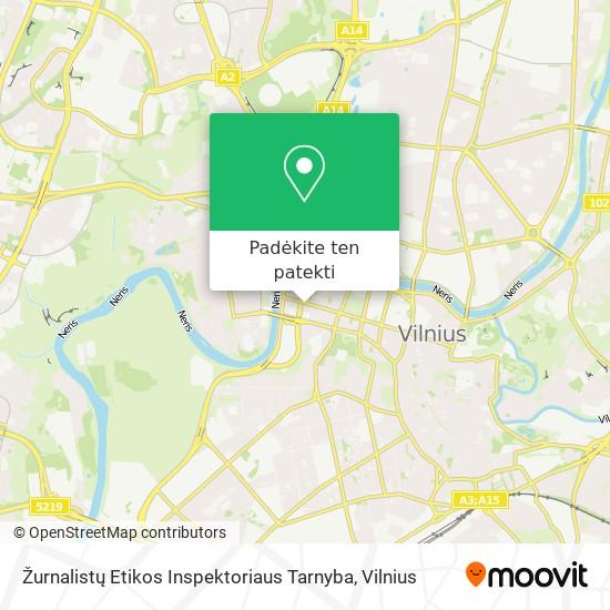 Žurnalistų Etikos Inspektoriaus Tarnyba žemėlapis
