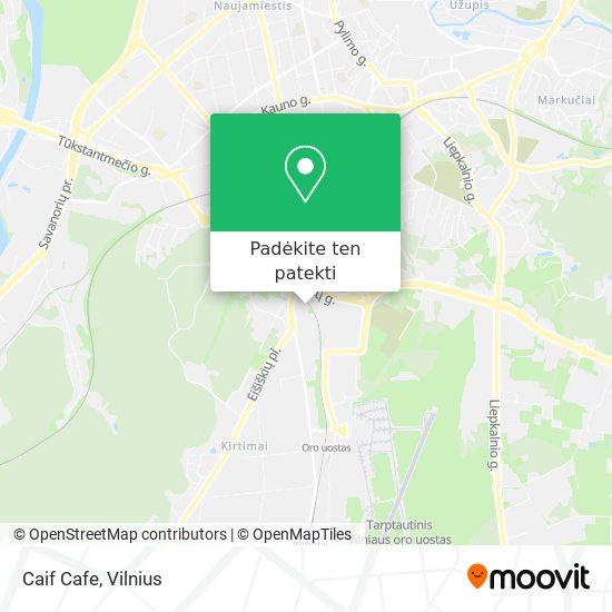 Caif Cafe žemėlapis
