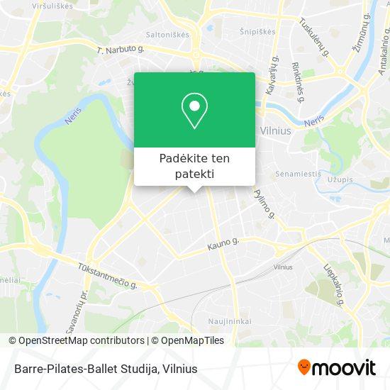 Barre-Pilates-Ballet Studija žemėlapis