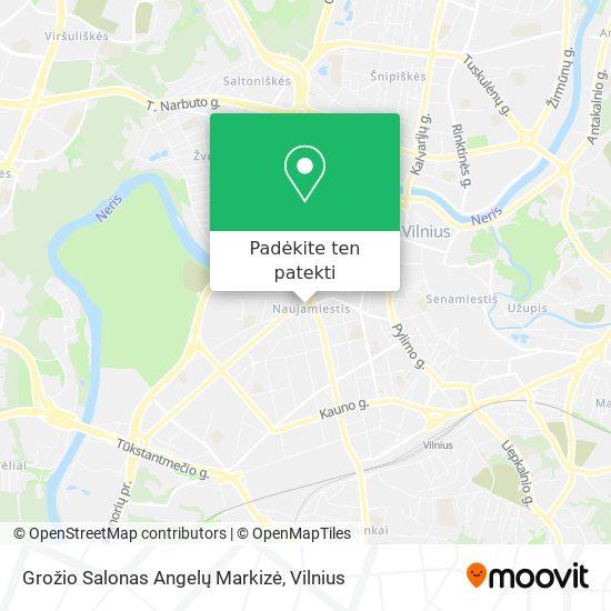 Grožio Salonas Angelų Markizė žemėlapis