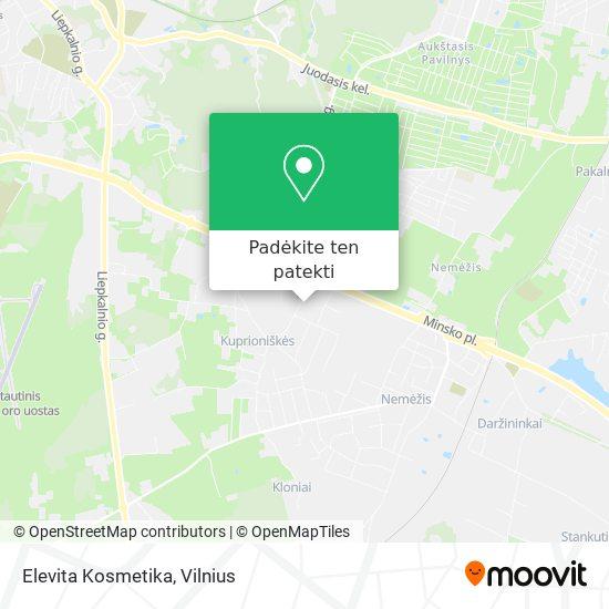 Elevita Kosmetika žemėlapis