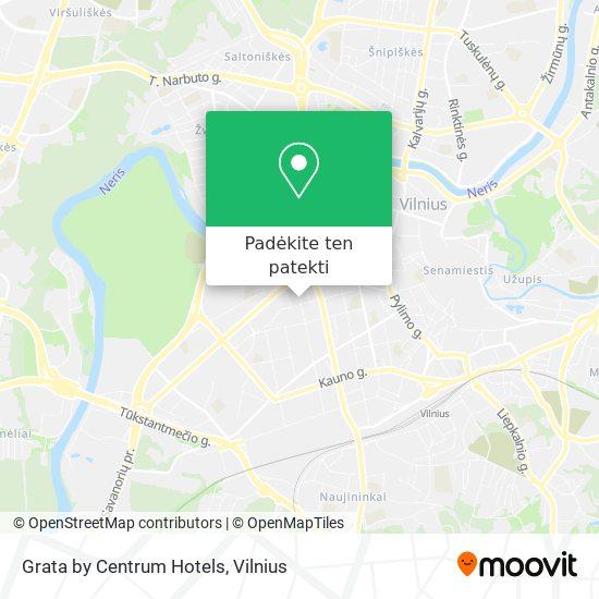 Grata by Centrum Hotels žemėlapis