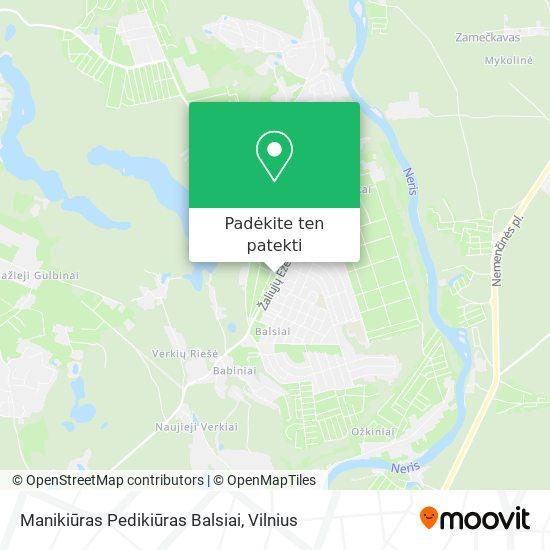 Manikiūras Pedikiūras Balsiai žemėlapis
