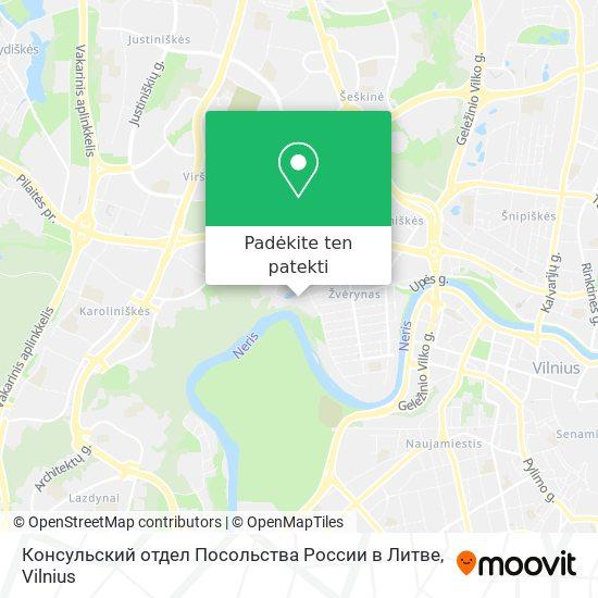 Консульский отдел Посольства России в Литве žemėlapis
