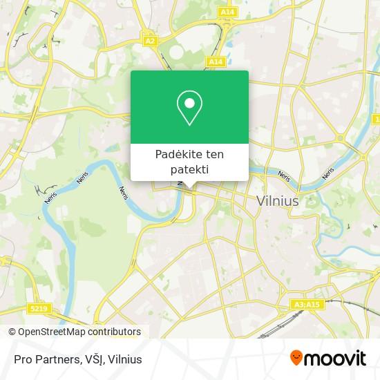 Pro Partners, VŠĮ žemėlapis