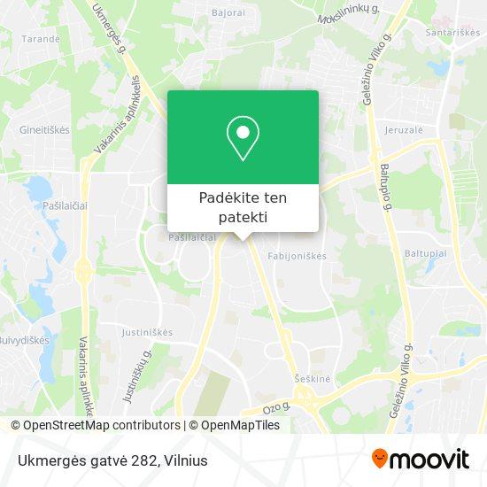 Ukmergės gatvė 282 žemėlapis