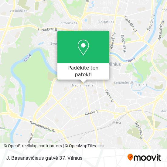J. Basanavičiaus gatvė 37 žemėlapis