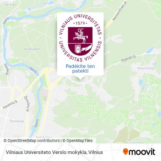 Vilniaus Universiteto Verslo mokykla žemėlapis