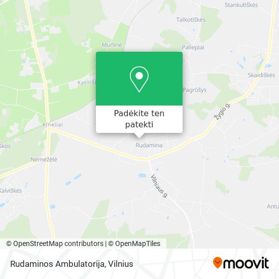 Rudaminos Ambulatorija žemėlapis