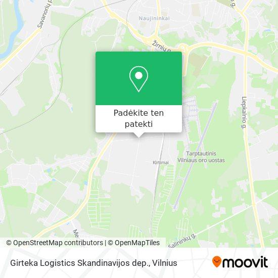 Girteka Logistics Skandinavijos dep. žemėlapis