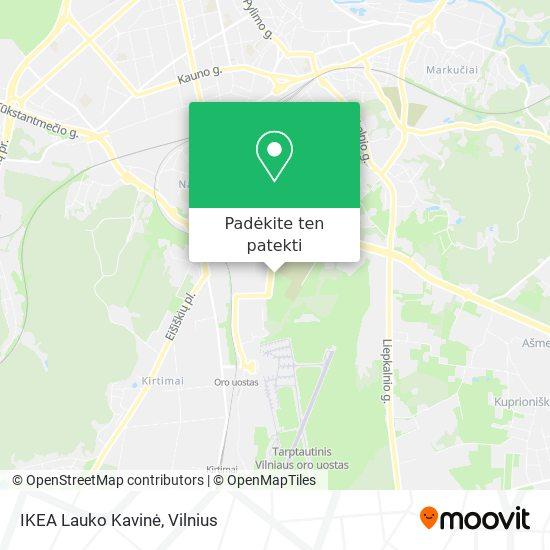 IKEA Lauko Kavinė žemėlapis