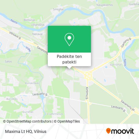 Maxima Lt HQ žemėlapis