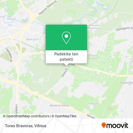 Tores Bravoras žemėlapis
