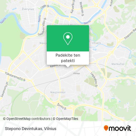 Stepono Devintukas žemėlapis