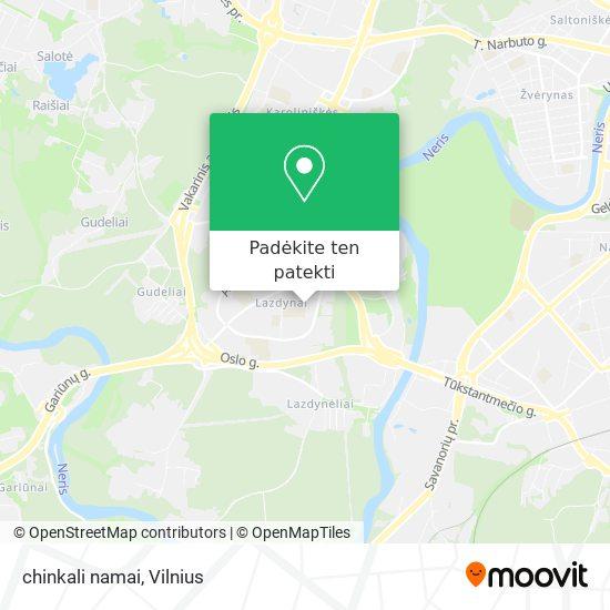 chinkali namai žemėlapis