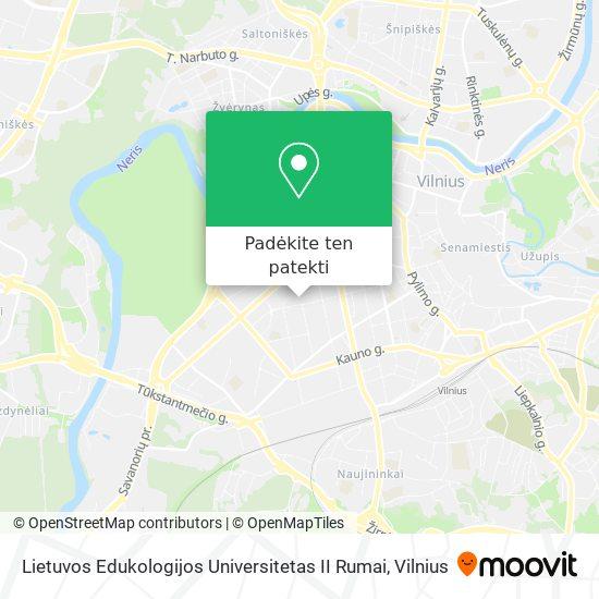 Lietuvos Edukologijos Universitetas II Rumai žemėlapis