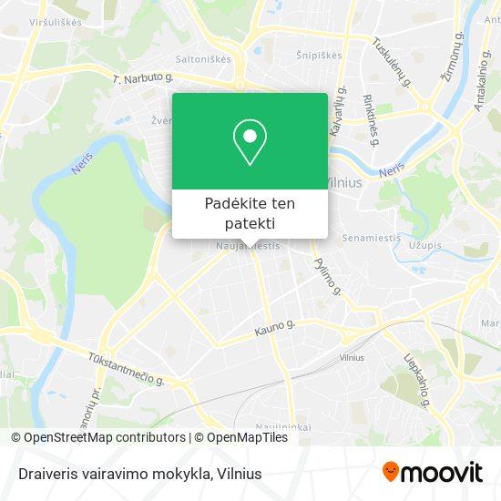Draiveris vairavimo mokykla žemėlapis