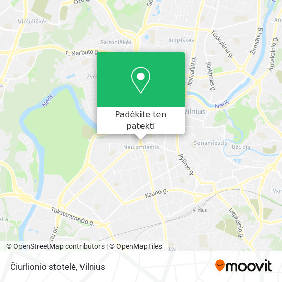 Čiurlionio stotelė žemėlapis