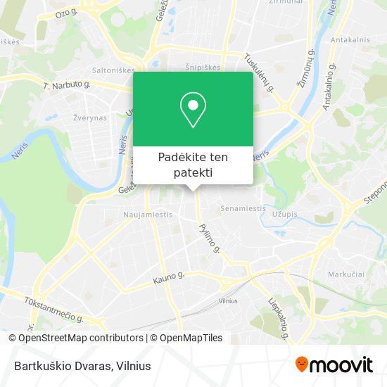 Bartkuškio Dvaras žemėlapis