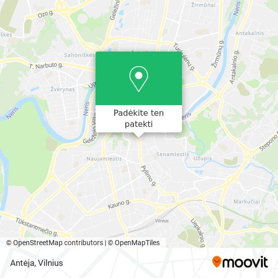 Antėja žemėlapis